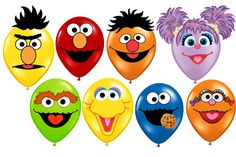partyexpressinvitations - Sesame Street Printable Faces Birthday Balloons Elmo, Cookie Monster, $4.99 (http://www.partyexpressinvitations.com/sesame-street-printable-faces-birthday-balloons-elmo-cookie-monster/)