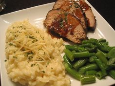 Mrs. Schwartz's Kitchen: Balsamic Glased Pork Loin and Parmesan Risotto