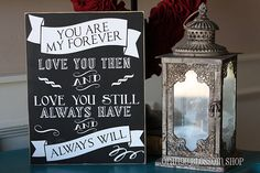 You are my forever love you then and love by orangeblossomshopaz, $ 24.