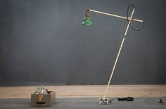 USA, Early 1900s, Vintage Industrial OC White Articulated Machinist Workshop Light.  http://lnk.al/1ZhX