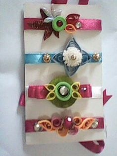 Quilled rakhis Quilling Earrings, Quilling Jewelry, Paper Quilling, Baby Boy Shower, Baby Showers, Quilling Rakhi, Rakhi Making, Handmade Rakhi, Envelopes
