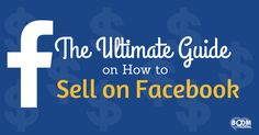 Can you actually sell on Facebook? How does it work? What are your options? This ultimate guide, via @kimgarst how to sell on Facebook will walk you through all the possible ways you can sell your products and services on Facebook!