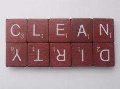 diy with scrabble tiles | DIY Scrabble tile dishwasher magnet: clean & dirty Things to Make