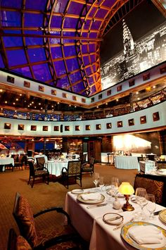 Nick & Nora's Steakhouse on Carnival Miracle - one of the specialty restaurants