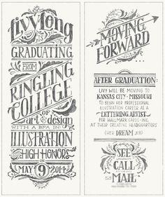 Graduation Announcement by Livy Long
