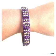 """New❗️Colorful Crystal Bangle Colorful Crystal Bangle. 2.6"""" Diameter. PPTrades Jewelry Bracelets"""