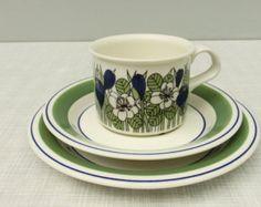 Arabia of Finland, Gardenia, Esteri Tomula, Dessert Plate によく似た商品を Etsy で探す