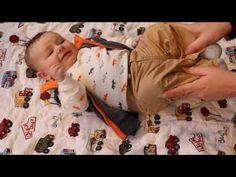 Relieving baby gas - YouTube