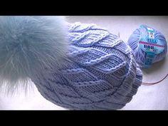 Вяжем шапку узором резинка косички - YouTube Knitting Projects, Knitting Patterns, Easy Crochet Slippers, Sewing Pants, Drops Design, Bean Bag Chair, Headbands, Knitted Hats, Knit Crochet
