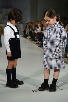 Kid models during the first ever Kids Fashion Week in London on March 20th, 2013.