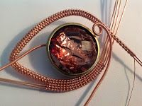 Perfectly Twisted Handmade Wire Wrapped Beaded and Gemstone Jewelry: The How To... A Picture Tutorial on Wire Weaved Jewelry... Create a Wire Wrapped Pendant ...Part 1