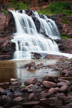 Lower Falls at Gooseberry State Park near Lake by RandyNyhofPhotos, $12.00