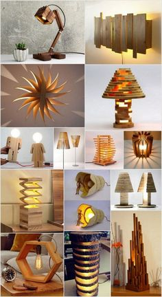 Breathtaking DIY Wooden Lamp Projects to Enhance Your Home Decor - Shawn Lu - Dekoration Woodworking Lamp, Intarsia Woodworking, Woodworking For Kids, Woodworking Crafts, Unique Woodworking, Woodworking Techniques, Woodworking Beginner, Woodworking Organization, Woodworking Quotes