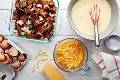 Crowd-pleasing strata is easy to make (ahead!) for Mothers' Day brunch when you follow this simple ratio and technique.