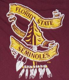Vintage Florida State University T-Shirt. Very good pre-owned condition. Florida State Seminoles, Florida State Football, Seminole Florida, College Football Season, Florida State University, Alabama Football, Ohio State Buckeyes, American Football, Oklahoma Sooners