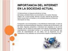 importancia del internet - Buscar con Google Internet, Google, Finance, Knowledge
