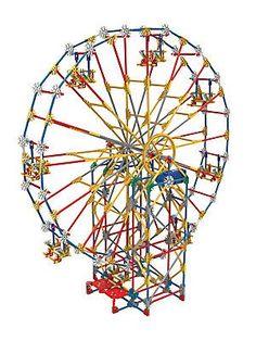 K'NEX Three-in-One Classic Amusement Park Building Set - No Color