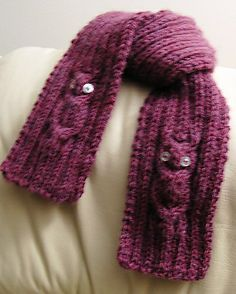 Ravelry: Owl Sitting-in-a-Tree Scarf pattern by KayL Designs