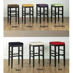 <li>Accentuate your bar or counter with the Sonata square bar stool</li><li>Backless stool features rich microfiber upholstery and wood frame construction</li><li>Dining furniture is great for the kitchen, dinette, bar, garage, hobby room or patio</li> 30 Inch Bar Stools, Brown Bar Stools, Wood Bar Stools, Counter Height Bar Stools, Leather Bar Stools, Wood Stool, Bar Chairs, Island Stools, Eames Chairs