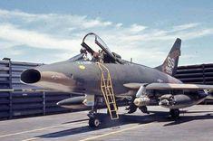 Trading Up for Historic Value Fighter Aircraft, Fighter Jets, Us Military Aircraft, Vietnam War Photos, Aviation Art, Aircraft Carrier, War Machine, Air Force, Cold War