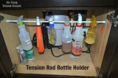 Some really great ideas for using tension rods ... there are quite a few of these I can put to use in the RV!!!  :)
