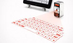 Laser Keyboard Cube - projects a real, working keyboard onto a flat surface!!