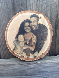 """Photo transfer on wood craft. In a well ventilated area (1.wood piece 2. Paint thinner/turpentine 3. Laser printed photo in reverse """"mirrored"""") 1.lay the image face down on wood piece,  2.tape sides to secure  3.apply layers of paint thinner until see through. (Don't apply too much thinner to wear the paper puddles) 4.Rub with spoon or card over all of the image,  5.repeat thinner and rubbing of image once more  (you can flip a corner up to check)  6.then remove paper and let dry or blow…"""