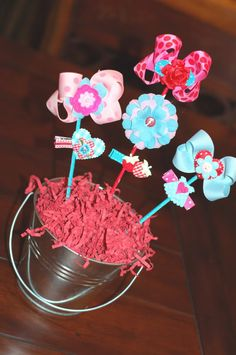 Baby bow bouquet - great gift idea for little girls
