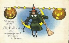 vintage halloween graphics and vintage halloween greeting cards.