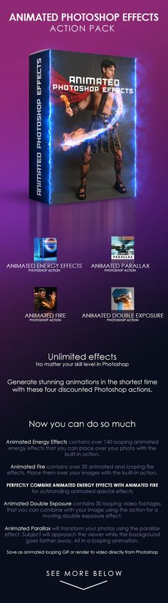 DOWNLOAD: goo.gl/rbRM02 Animated Photoshop Effects Action Pack contains is a bundle pack consisting of four discounted items: