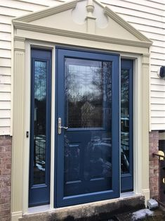 Replacement Doors - Entry and Sliding Glass Door Replacement in Monroeville, PA - Entry and Storm Door After Porch Doors, Entry Doors, Glass Front Door, Front Door Decor, Sliding Glass Door Replacement, Glass Storm Doors, Kitchen Sink Faucets, Exterior House Colors, Diy Door