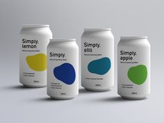 The Simply™ sparkling water packaging design Water Packaging, Water Branding, Beverage Packaging, Coffee Packaging, Bottle Packaging, Clever Packaging, Chocolate Packaging, Food Packaging Design, Packaging Design Inspiration