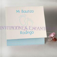 Invitacion de Bautizo Modelo: Babysimple 43
