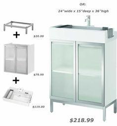 Maybe for laundry room? Bathroom Storage, Bathroom Medicine Cabinet, Locker Storage, Glazed Glass, Glass Doors, Remodels, Powder Room, Master Bath, Laundry Room