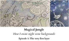 Magical Jungle - How I create night scene backgrounds - Ep 1: The very f...