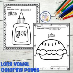 Your Students will ADORE these Coloring Book Pages for Long Vowels! Add it to your plans to compliment any Long Vowels Unit! 70 Coloring Pages For Some Long Vowel Fun! Perfect for bulletin board Second Grade Teacher, First Grade Classroom, First Grade Math, Vowel Worksheets, Subtraction Worksheets, Fall Coloring Pages, Coloring Books, Long U Words, Kindergarten Coloring Pages