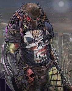predator by qassim Predator Series, Predator Movie, Alien Vs Predator, Aliens, Art Alien, Predator Cosplay, Alien Races, Street Fights, Retro Art