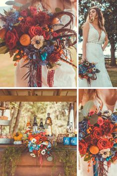 Cozy family style wedding inspiration for fall. Bring family and friends together over good food great company and spiked coffees.Photographer Krishna Sutherland shares this bold fallinspired styled shoot perfect for lovers of pumpkin spice and Fall Wedding Colors, Wedding Color Schemes, Wedding Ideas For Fall, Fall Wedding Themes, Fall Wedding Inspiration, November Wedding Colors, October Flowers, Fall Color Schemes, Fall Wedding Bouquets
