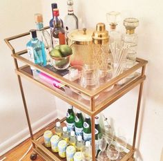 Check out more bar cart inspo on my blog!