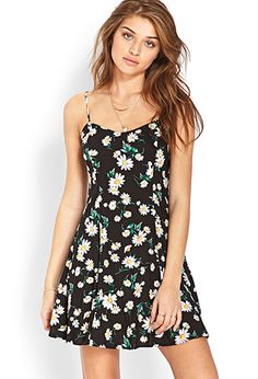 Darling Daisy Skater Dress | FOREVER21 - 2000087661