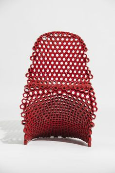by Leo Capote | Chair made of nuts | For a series of furniture made from nuts and bolts
