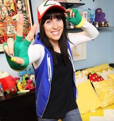 You don't need to stick strictly to Pokemon for your costume. You can also dress up as Ash Ketchum, the aspiring Pokemon Master known for his blue hoodie, red hat and green gloves. The best part: The costume is so comfy. Click through for a tutorial and more easy Pokémon costume ideas to try this Halloween.