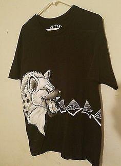 Black Pyramid Men T-Shirt Hyena Style Black Large Shirt