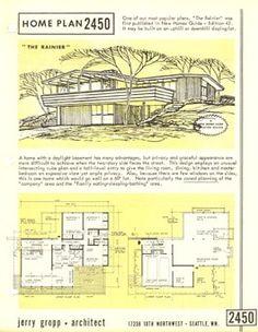 Docomomo WEWA - Mid Century Modern Architects Vintage Architecture, Modern Architects, Modern House Plans, Mid Century House, Mid-century Modern, Art Deco, Floor Plans, Houses, Exterior