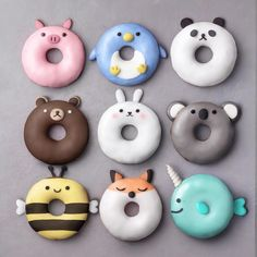 Animal donuts by @naturally.jo