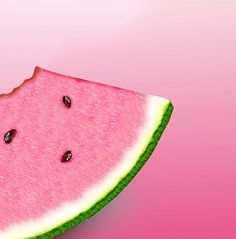 Cold watermelon for a hot day.