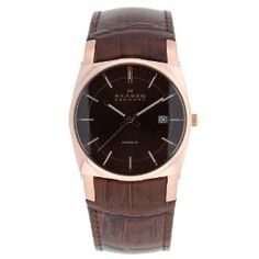 Discount Skagen Men's 759LRLDJ Leather Watch Special offers - http://greatcompareshop.com/discount-skagen-mens-759lrldj-leather-watch-special-offers