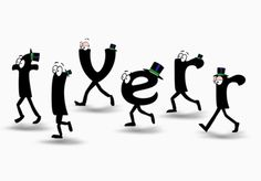 I will write your website or any message with this animated font characters in a custom cartoon for $5