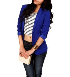 Royal Blue Double-Breasted Blazer | Pinterest | Blazers, Royals ...