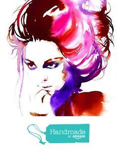 Fashion Illustration Art Print Original Watercolour Painting Style Icon Poster Muse Salon Decor Pink Hair from Kimberly Godfrey http://www.amazon.com/dp/B017BZMKIQ/ref=hnd_sw_r_pi_dp_.GXXwb1BC8QAR #handmadeatamazon